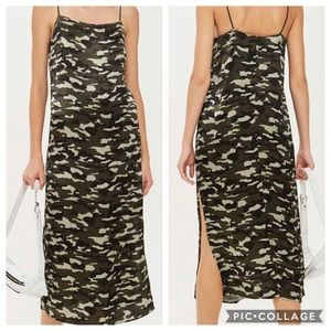 Camouflage Midi Slip Dress.            Size 12